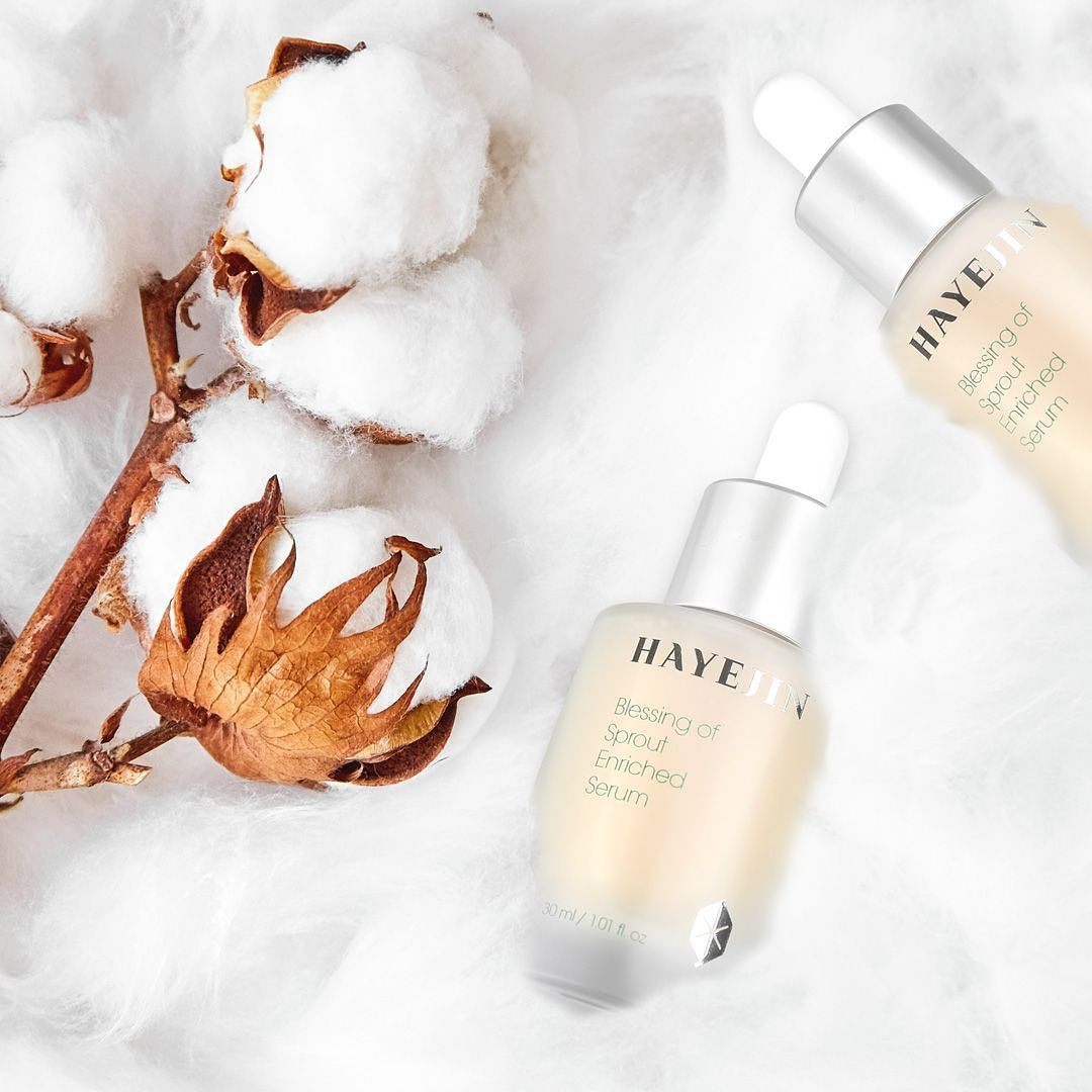 Hayejin Blessing of Sprout Enriched Serum dan HAYEJIN Face & Body Collagen whitening Cream
