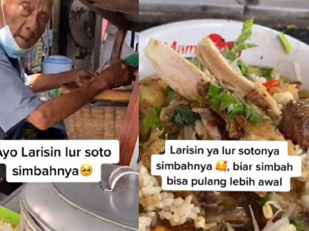 Insipiratif! Kakek 93 Tahun di Yogyakarta Semangat Jualan Soto Ayam