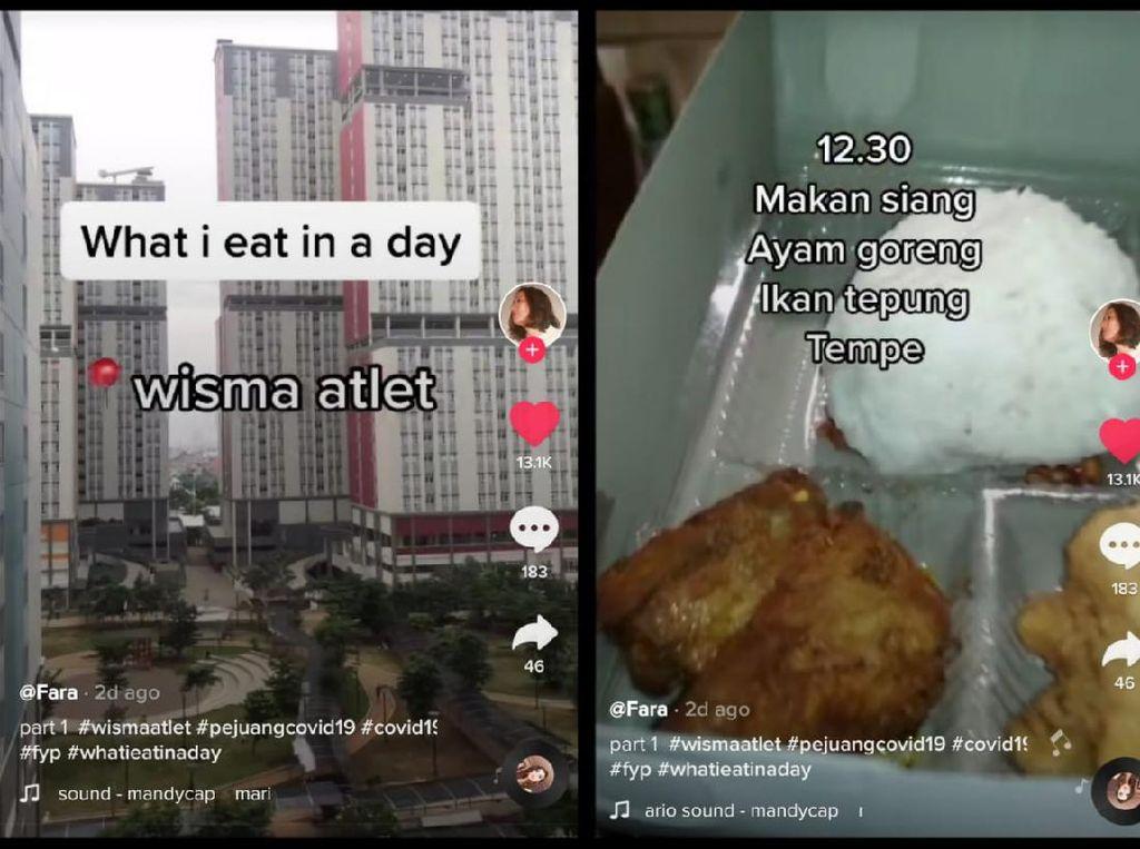 Karantina di Wisma Atlet, Netizen Ini Ungkap Makanan Enak yang Dinikmati