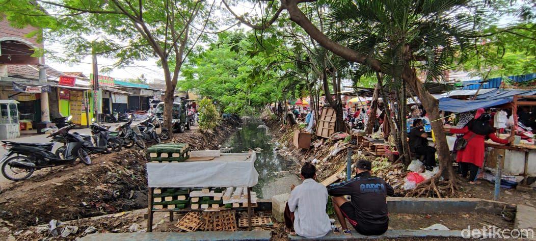 Sampah di Pasar Sipon, Cipondoh, Kota Tangerang. (Taufieq Renaldi Arfiansyah/detikcom)