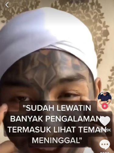 Pria viral bernama Ahmad Nur Kusuma Yuda, mantan anak punk yang mendapatkan hidayah.