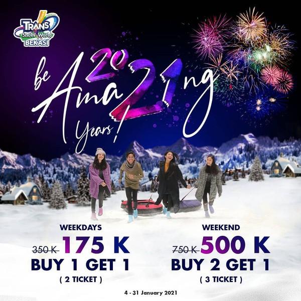 Promo tiket masuk wisata salju di Bekasi