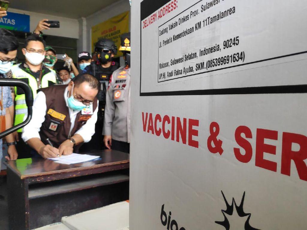 Tambahan 36 Ribu Vaksin Tiba di Sulsel, Kapolda: Kebutuhan Tahap Awal Terpenuhi