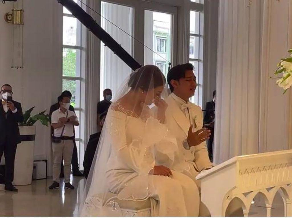 Air Mata Felicya Angelista dan Caesar Hito di Altar Pernikahan