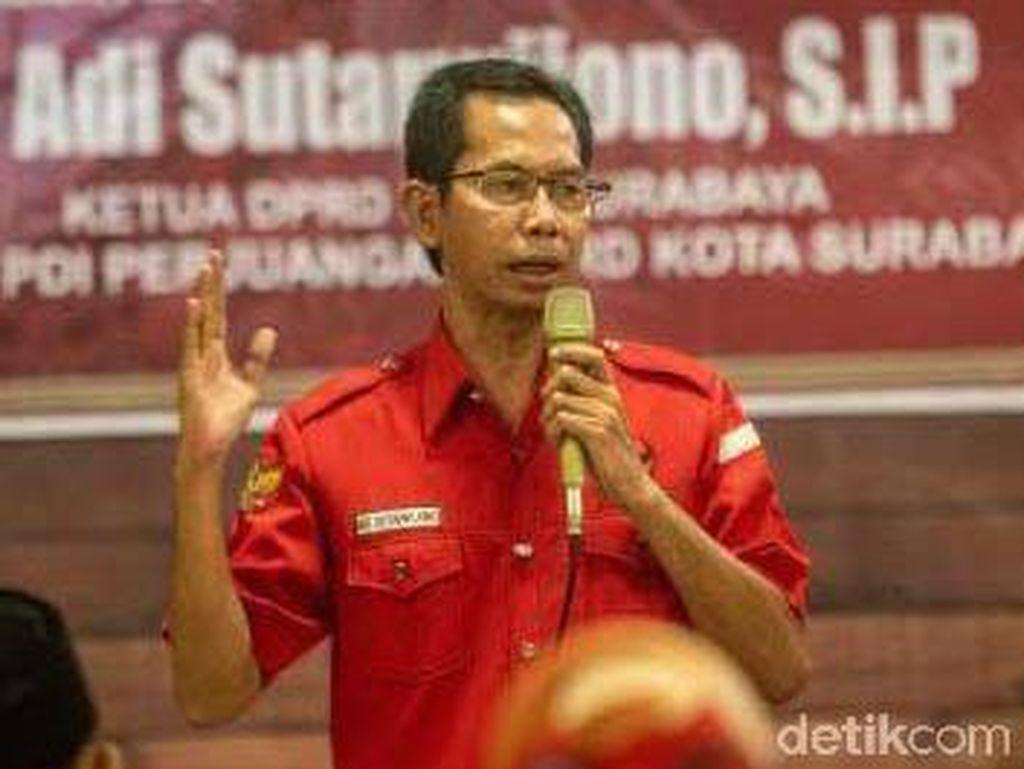 HUT ke-48, PDIP Surabaya Bagi-bagi Tumpeng untuk Rakyat dan Anak Yatim