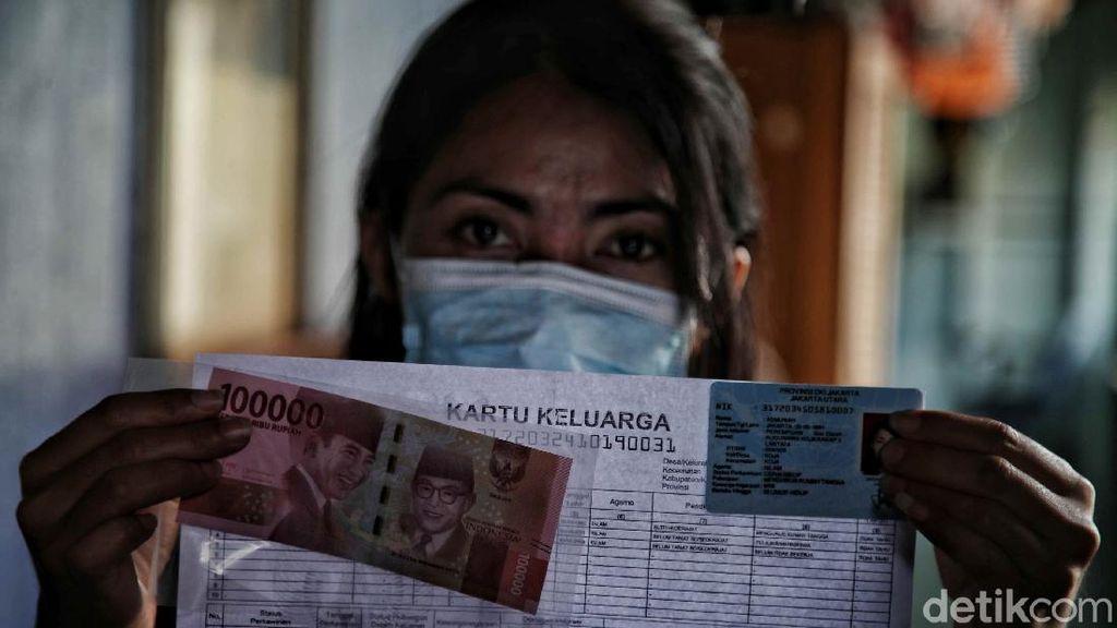 Penyaluran Bantuan Sosial Tunai di Rusun Koja