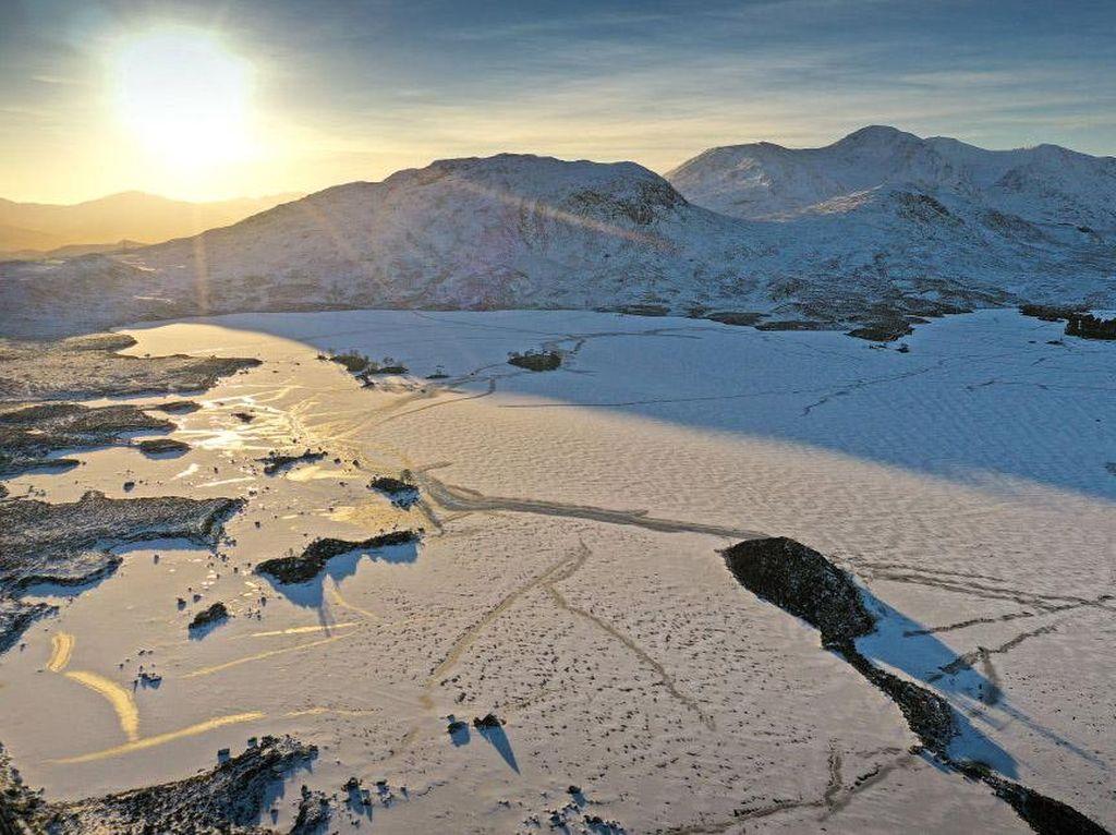 Potret Skotlandia Kala Suhu di Bawah Nol