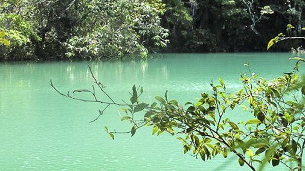 Telaga Biru di Lembah Baliem, Papua
