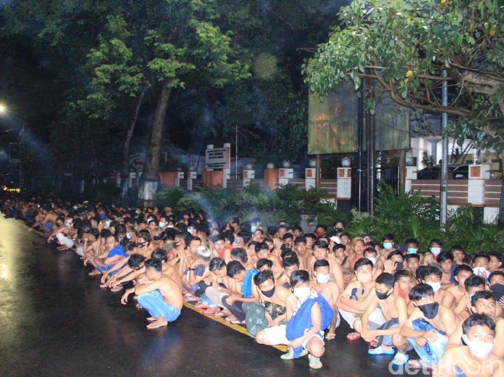 Operasi Balap Liar di Malang Jelang PPKM, 318 Pemuda dan 574 Motor Diamankan