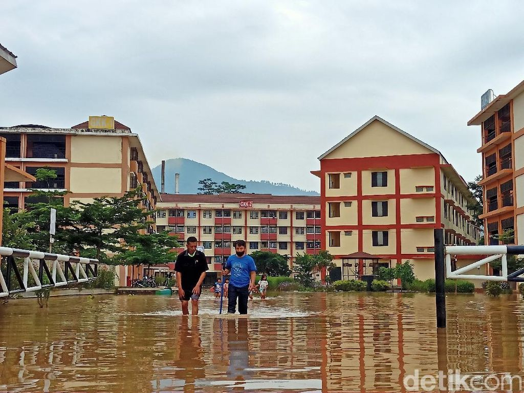 Rusunawa Rancaekek Masih Terendam Banjir Akibat Tanggung Jebol