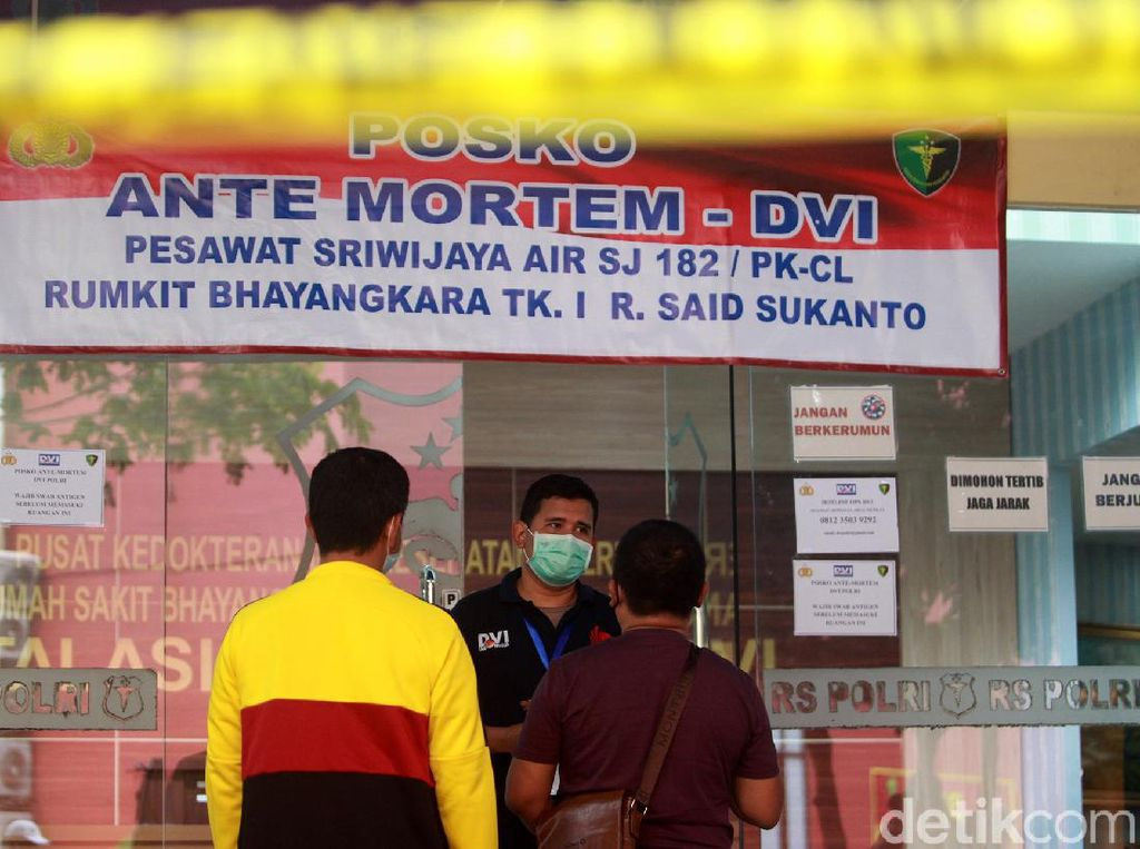 DVI Kembali Identifikasi 3 Korban Sriwijaya Air, Total 43 Orang Dikenali