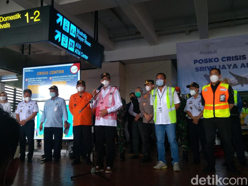 Menhub Temui Keluarga Korban Sriwijaya Air: Pemerintah Maksimal Mencari