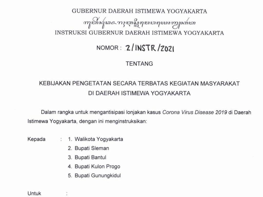 Sultan HB X Ubah Aturan PTKM di DIY, Ini 11 Poin Kebijakan Terbaru