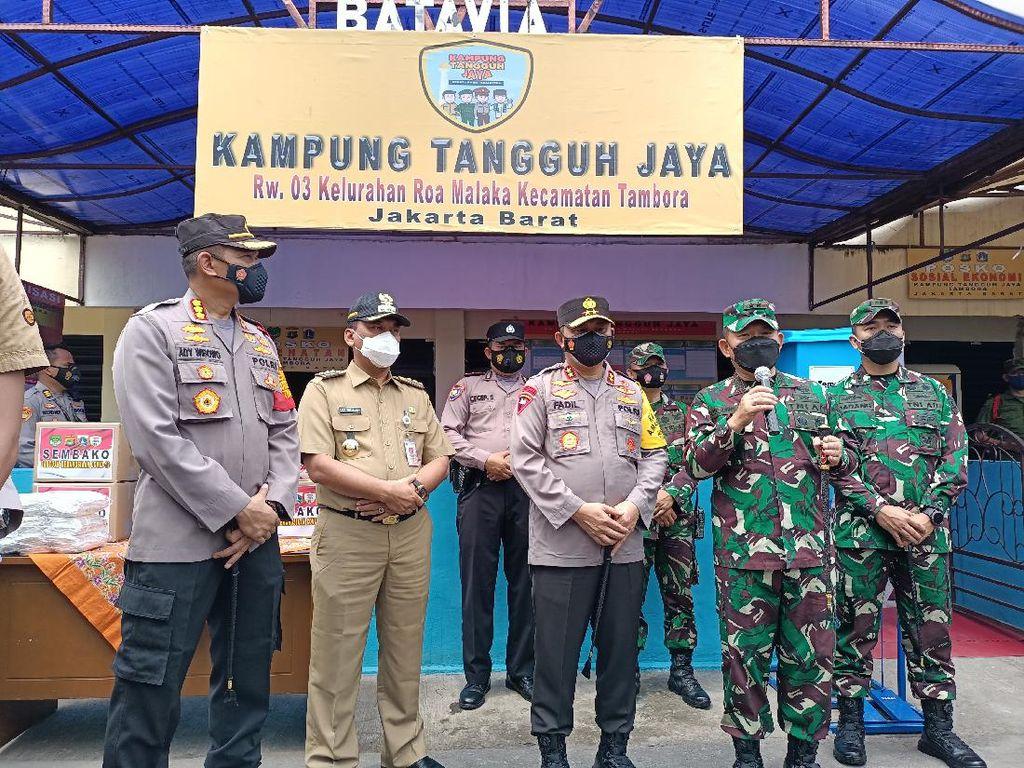 Kapolda Metro dan Pangdam Jaya Tinjau Kampung Tangguh di Tambora