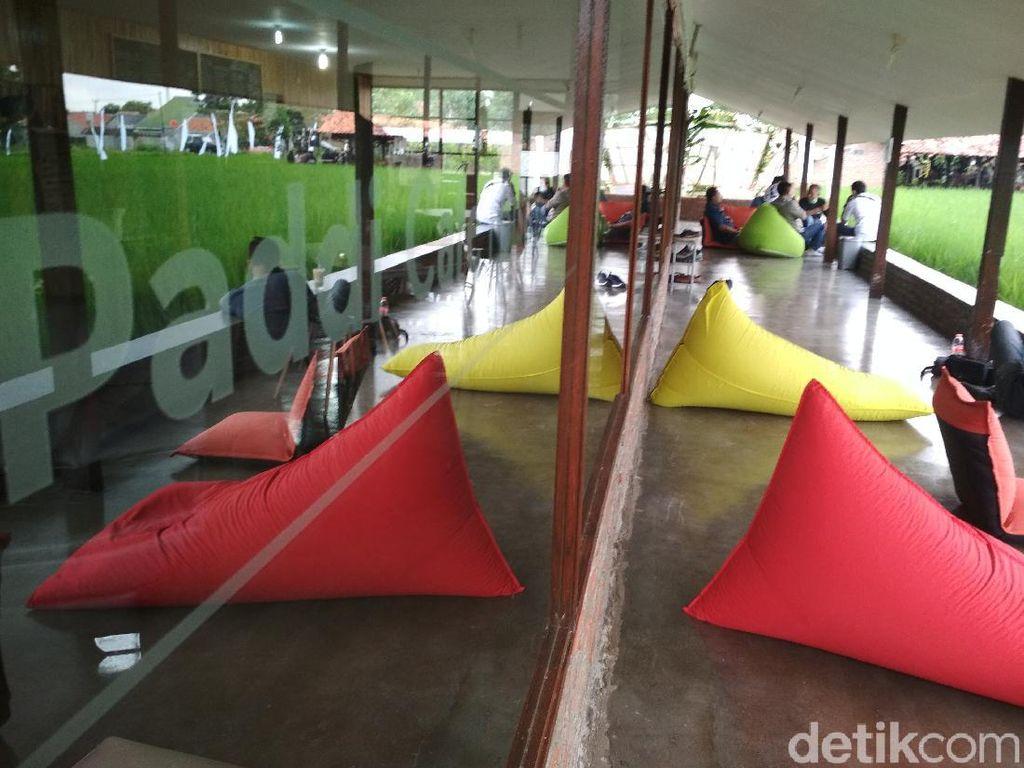 Potret Kafe Kekinian Cirebon yang Ada di Areal Pesawahan