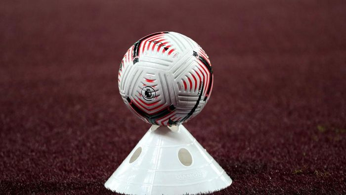 LONDON, ENGLAND - SEPTEMBER 12: The Nike Flight ball during the Premier League match between West Ham United and Newcastle United at London Stadium ></span></p> <p><span style=