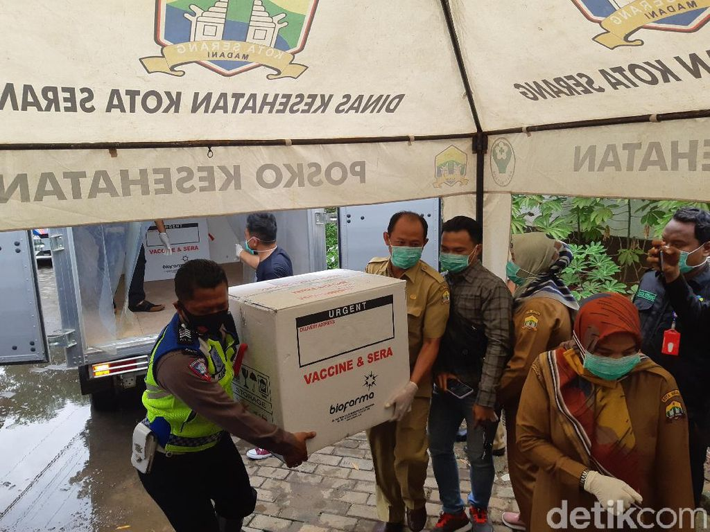 Kota Serang Terima 3.380 Dosis, Vaksinasi Diawasi Dokter Spesialis