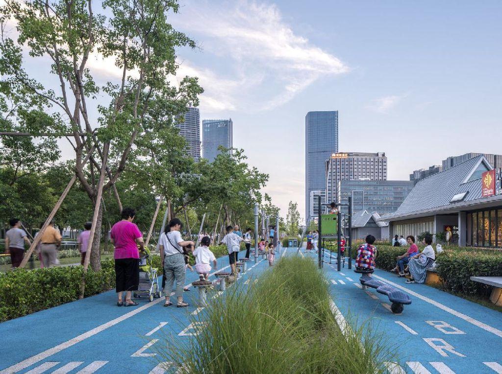 Kreatifnya China Ubah Bekas Landasan Pacu Jadi Taman Cantik