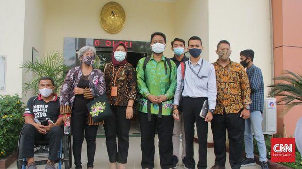 M. Baihaqi, penyandang netra yang berjuang di PTUN Semarang karena dicoret dalam seleksi CPNS Pemprov Jateng.