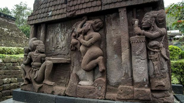 Sukuh is a Hindu temple located on the slopes of Mt. Lawu at an altitude of 1186m above sea level. This temple is considered controversial because of its unusual shape and because of the explicit depiction of human genitals on some of its reliefs. iStockphoto/benito_anu
