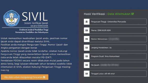 Cara Cek Nomor Ijazah Pakai Situs SIVIL Kemendikbud