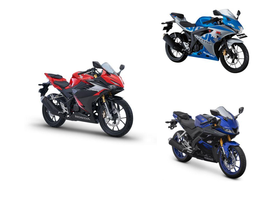Adu Ganteng Honda CBR150R Vs Yamaha R15 Vs Suzuki GSX-R150