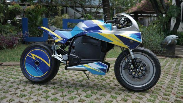 Motor listrik BL-SEV01 genre sport cafe racer rancangan Universitas Budi Luhur diperkenalkan pada Kamis (14/1).