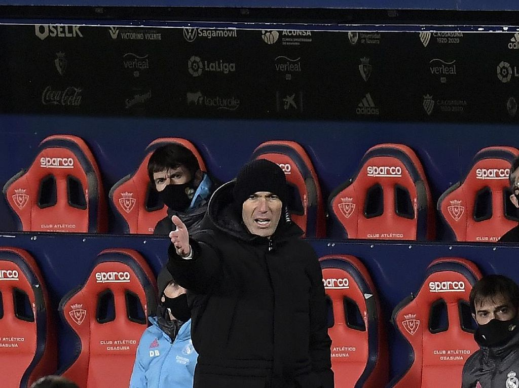 Zidane Malas Tanggapi Ledekan Presiden LaLiga soal Laga Osasuna Vs Madrid