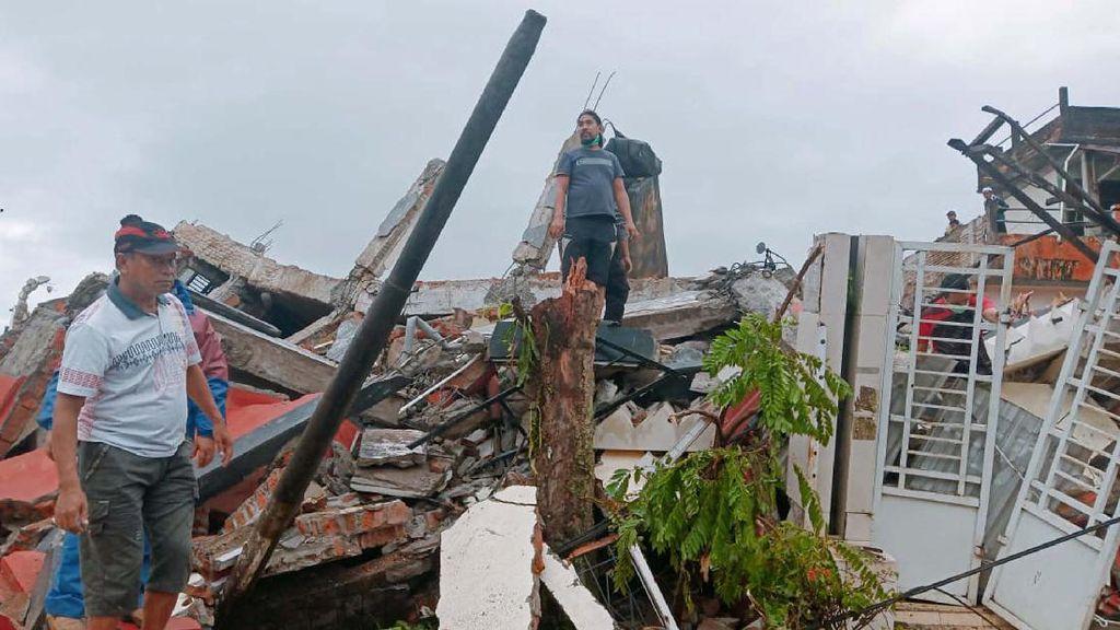 Kerusakan Akibat Gempa di Majene, Sulawesi Barat