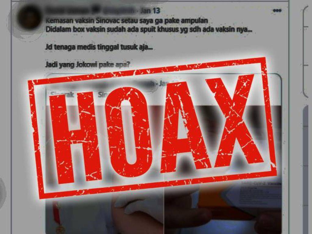 Heboh Spekulasi Vaksin Jokowi Berbeda, Ini Faktanya