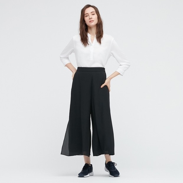 rok celana sifon slit