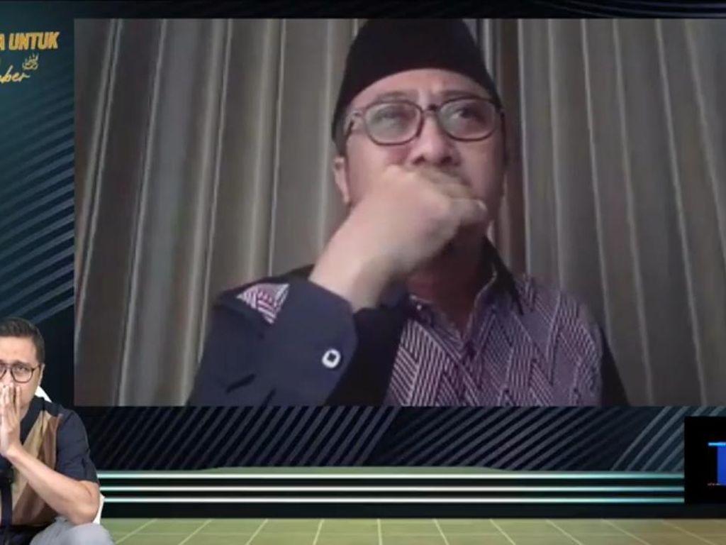 Tangis Sesenggukan Yusuf Mansur Saat Doa Bersama Virtual untuk Syekh Ali Jaber