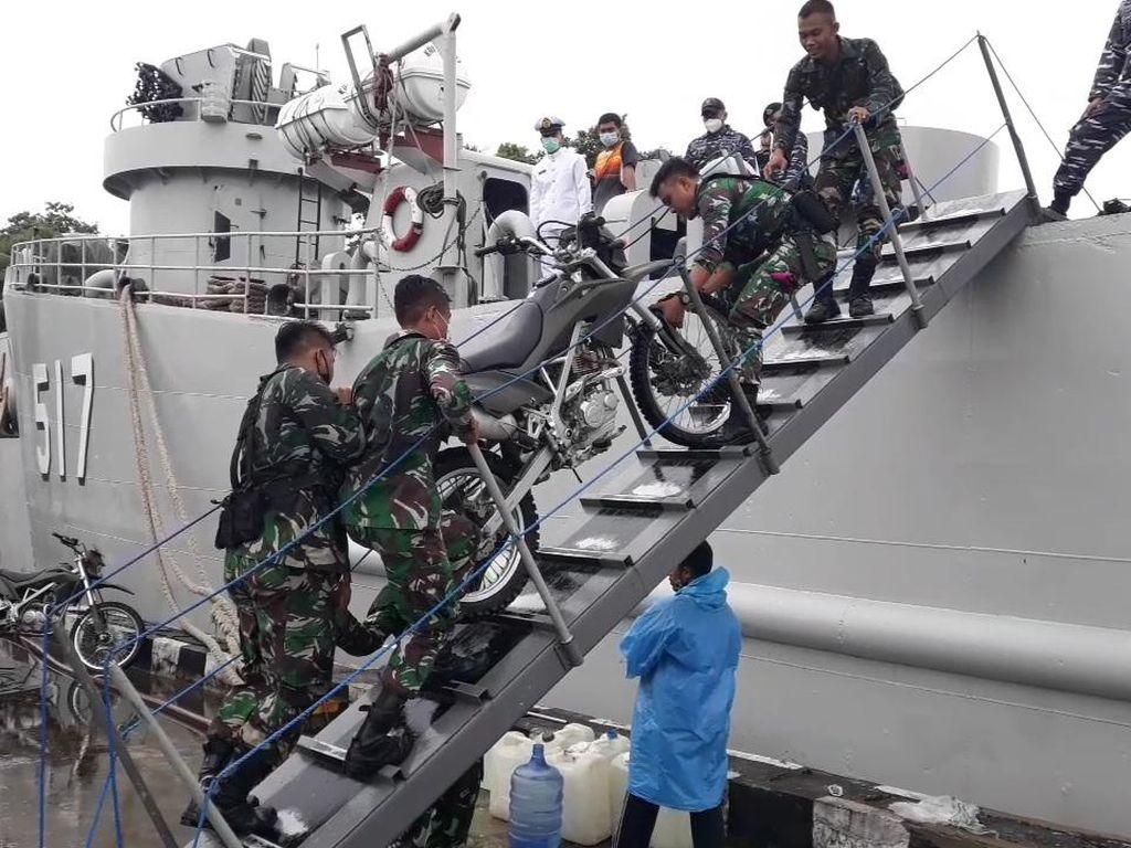 TNI AL Kirim Kapal Rumah Sakit dr Soeharso Bantu Penanganan Korban Gempa Mamuju