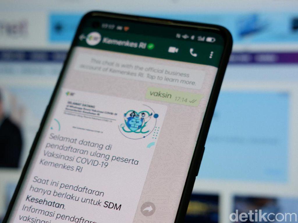 Cara Registrasi Vaksinasi Lewat WhatsApp untuk Nakes
