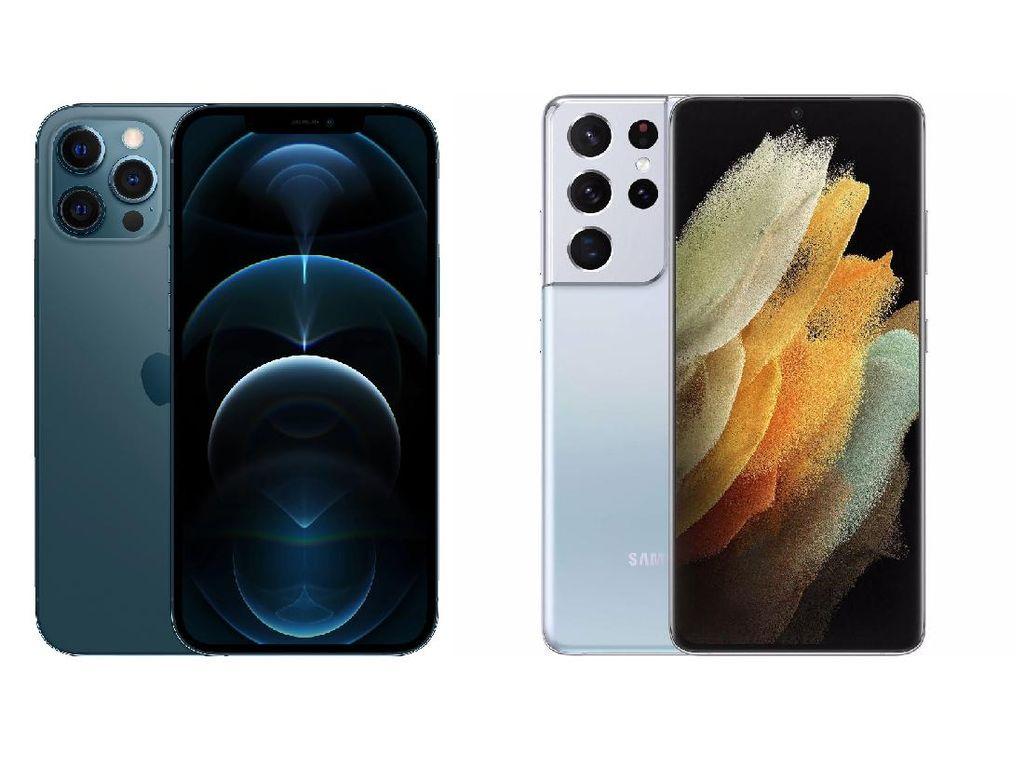 Perbandingan Spesifikasi Galaxy S21 Ultra dengan iPhone 12 Pro Max