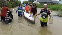 Banyak Warga Banjarmasin Terjebak Banjir Kalsel