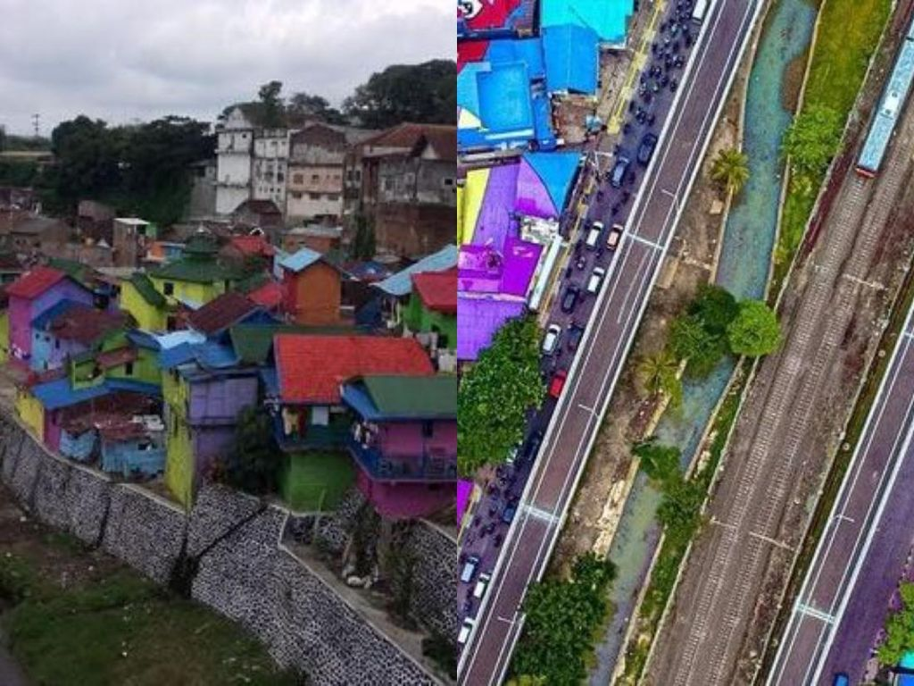 Menengok Kampung Warna-warni Malang yang Mirip Atap Penuh Warna Ide Anies