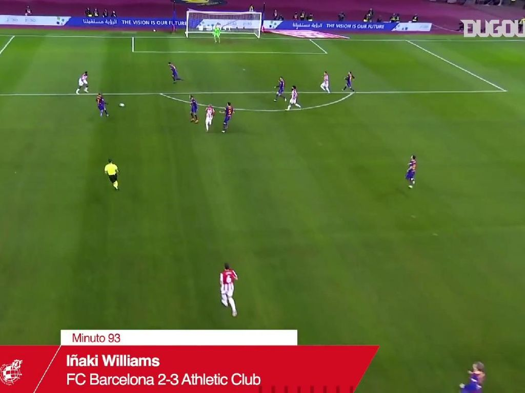 Video Gol Cantik Inaki Williams yang Sungkurkan Barcelona