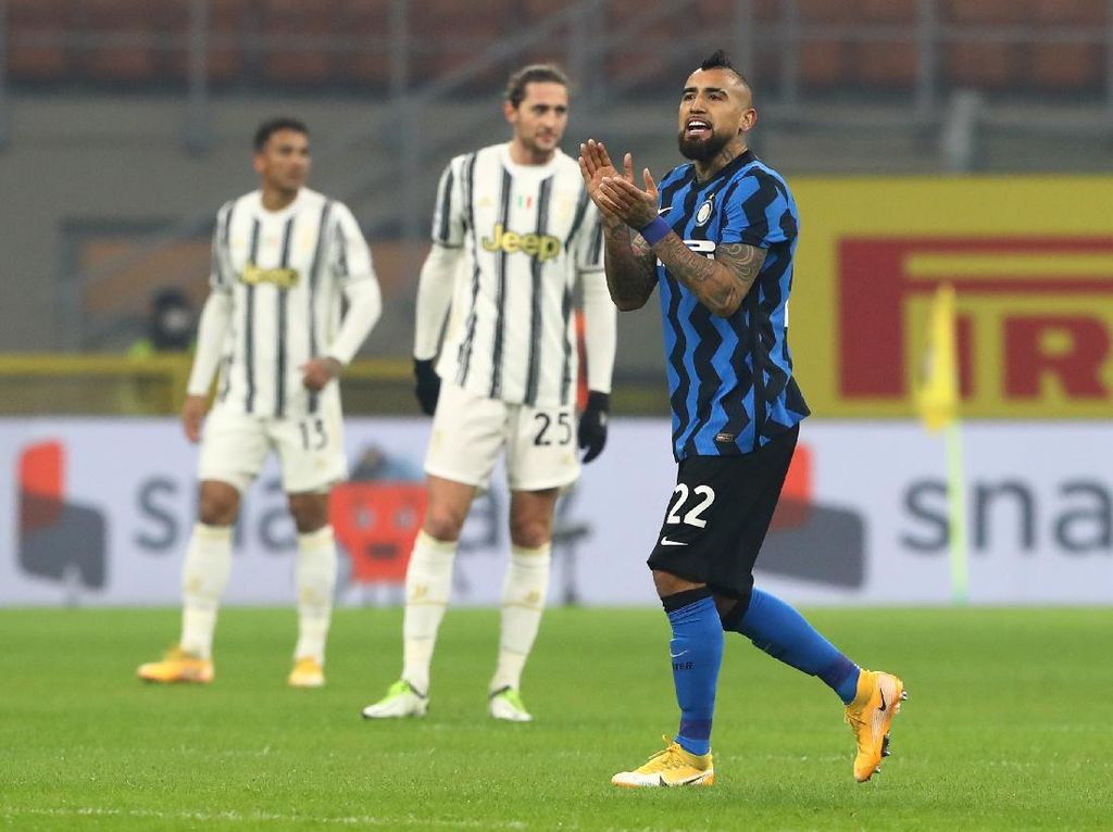 Babak I Inter Vs Juventus: Vidal Bawa Nerazzurri Unggul 1-0