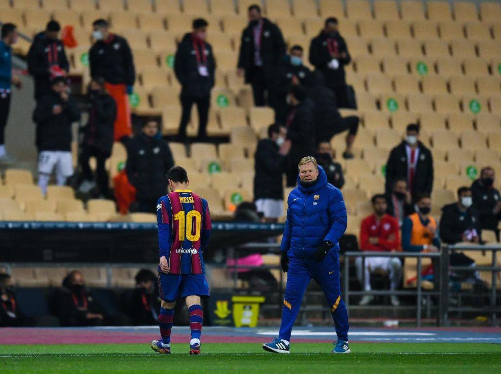 Messi Dikartu Merah, Ronald Koeman Bilang Begini