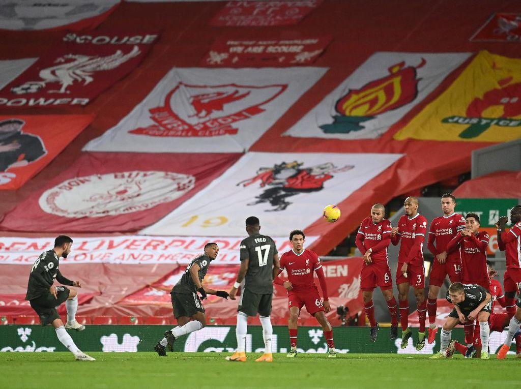 Seri di Anfield, MU Belum Menang Lawan Tim-tim 6 Besar