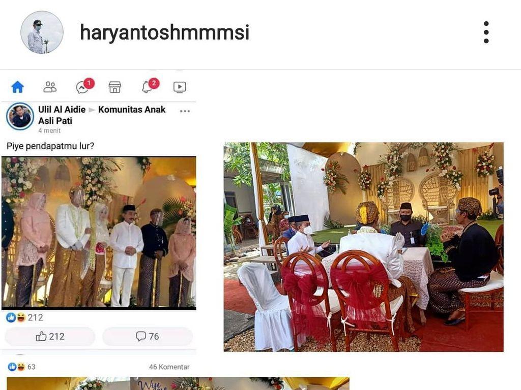 Fotonya Viral Tak Bermasker di Acara Pernikahan, Bupati Pati Buka Suara