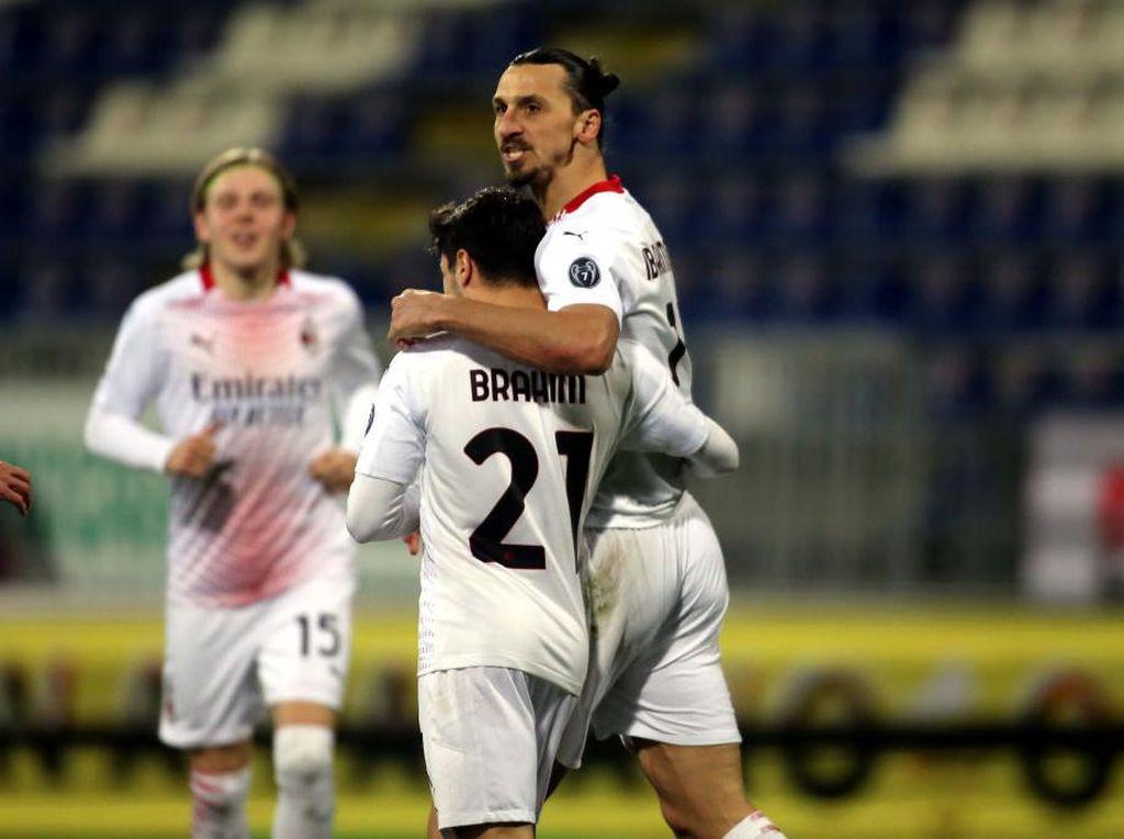 Cagliari Vs Milan: Dwigol Ibrahimovic Antar Rossoneri Menang 2-0