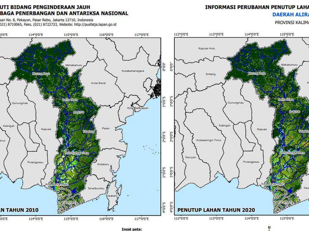 Analisis Lapan soal Penyebab Banjir Kalsel: Curah Hujan-Turunnya Luas Hutan