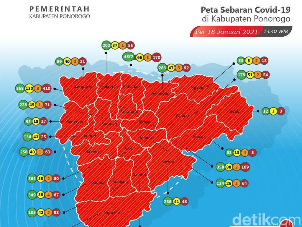 Prosentase Kematian Akibat COVID-19 Tinggi Picu Kab Ponorogo Zona Merah