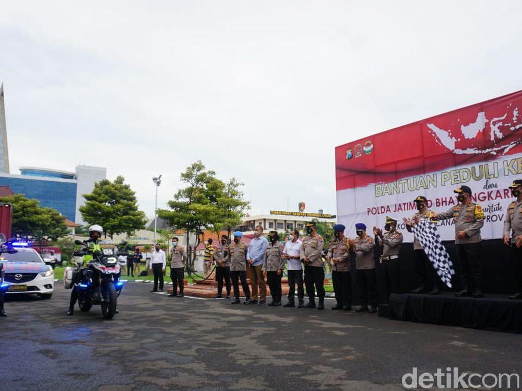 Polda Jatim Kirim 25.165 Paket Sembako untuk Korban Bencana di Kalsel dan Sulbar