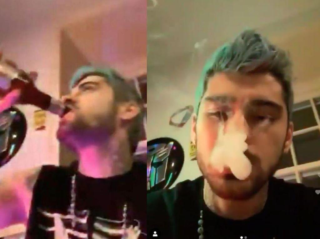 Ngerokok dan Mabuk-mabukan saat Live Instagram, Zayn Malik Jadi Sorotan