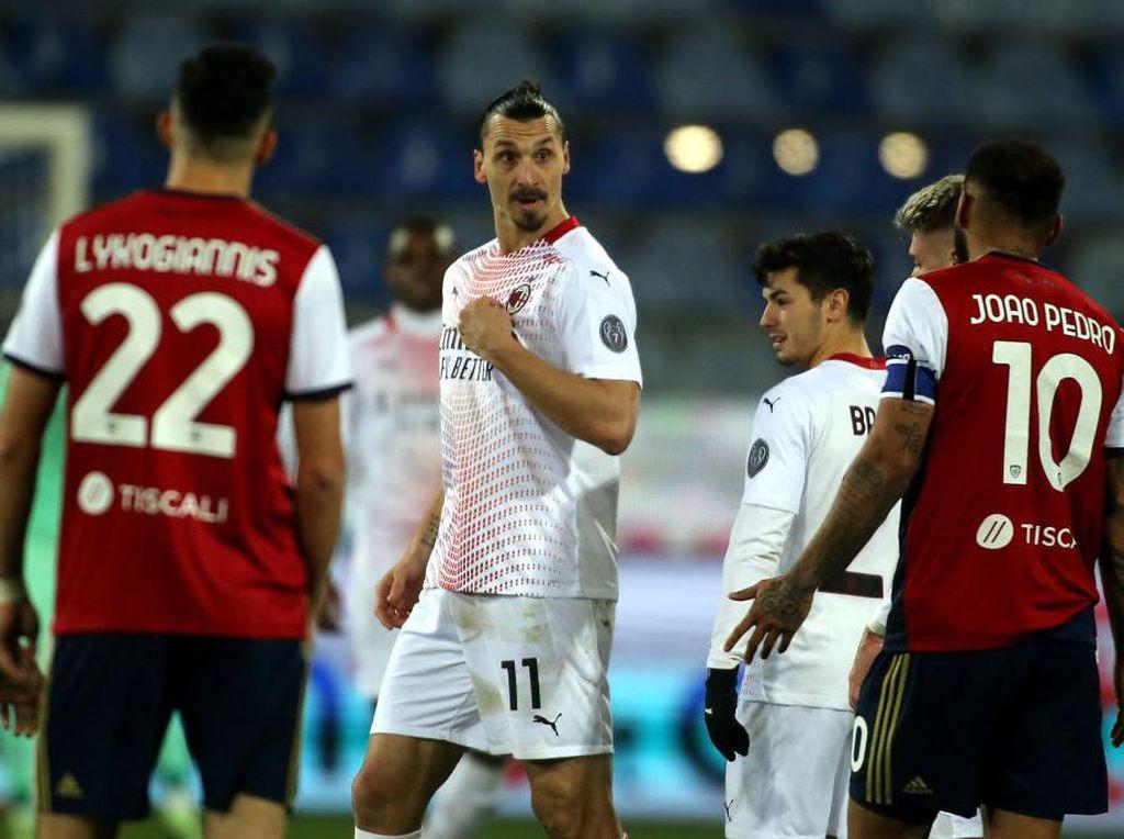 Ibrahimovic Jadi Bintang Kemenangan AC Milan Kala Jumpa Cagliari