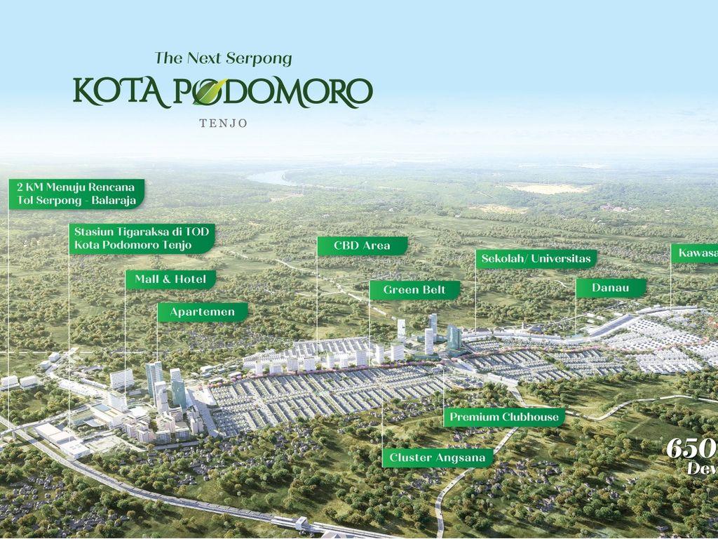 1.300 Rumah Sold 7 Hari, Kota Podomoro Buka Klaster Kana Rp 200 Jutaan