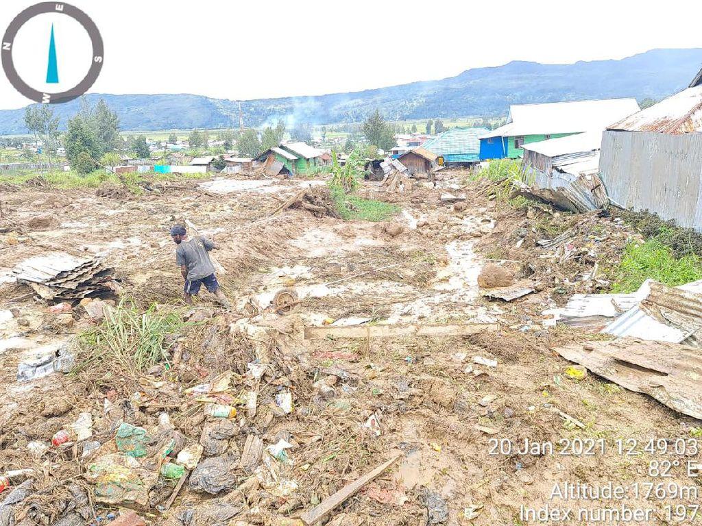 3 Rumah di Paniai Papua Hanyut Akibat Banjir Bandang, 71 KK Terdampak